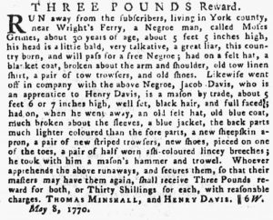 May 31 - Pennsylvania Gazette Supplement Slavery 2
