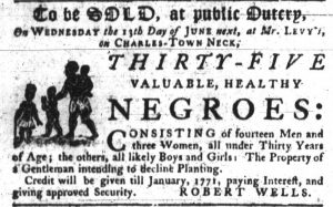 May 31 - South Carolina Gazette Slavery 1