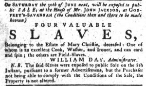 May 31 - South Carolina Gazette Slavery 2