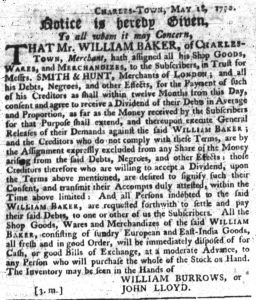 May 31 - South Carolina Gazette Slavery 6