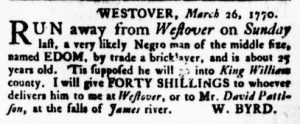 May 31 - Virginia Gazette Rind Slavery 8