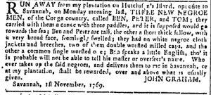 Nov 1 - Georgia Gazette Slavery 1