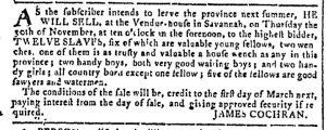Nov 1 - Georgia Gazette Slavery 2