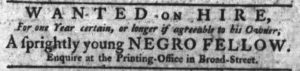 Nov 2 - South-Carolina Gazette Slavery 1