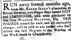 Nov 2 - South-Carolina and American General Gazette Slavery 2