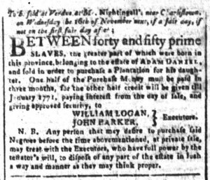 Nov 2 - South-Carolina and American General Gazette Slavery 3