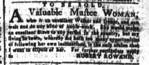 Nov 2 - South-Carolina and American General Gazette Slavery 4