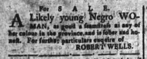Nov 2 - South-Carolina and American General Gazette Slavery 5