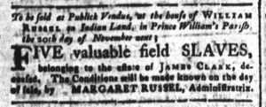 Nov 2 - South-Carolina and American General Gazette Slavery 6