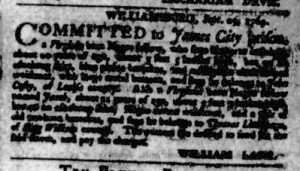 Nov 2 - Virginia Gazette Purdie and Dixon Slavery 12