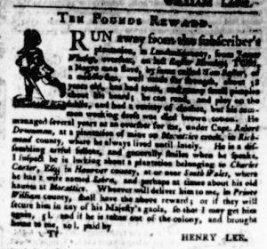 Nov 2 - Virginia Gazette Purdie and Dixon Slavery 13