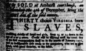 Nov 2 - Virginia Gazette Purdie and Dixon Slavery 2