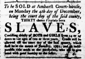 Nov 2 - Virginia Gazette Rind Slavery 1
