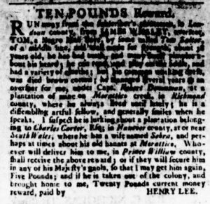 Nov 2 - Virginia Gazette Rind Slavery 6