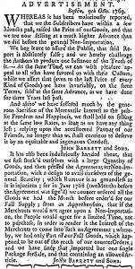 Oct 12 - 10:12:1769 Massachusetts Gazette and Boston Weekly News-Letter
