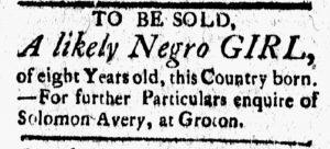 Oct 13 - New-London Gazette Slavery 2