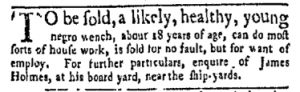 Oct 16 - New-York Gazette and Weekly Mercury Slavery 1