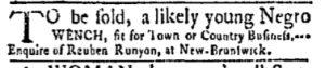Oct 16 - New-York Gazette and Weekly Mercury Slavery 3