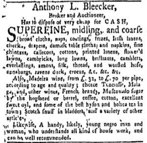 Oct 16 - New-York Gazette and Weekly Mercury Slavery 4