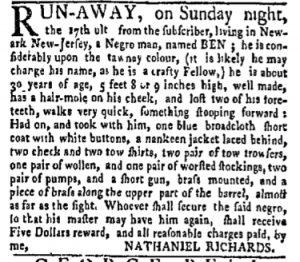 Oct 16 - New-York Gazette and Weekly Mercury Slavery 7