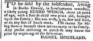 Oct 16 - Pennsylvania Chronicle Slavery 1
