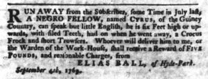 Oct 18 - South-Carolina Gazette Slavery 6