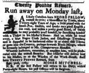 Oct 18 - South-Carolina Gazette Slavery 8