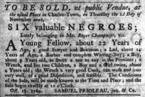 Oct 18 - South-Carolina Gazette Slavery 9