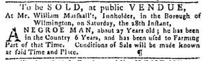 Oct 19 - Pennsylvania Gazette Slavery 1