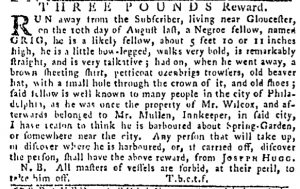 Oct 19 - Pennsylvania Gazette Slavery 2