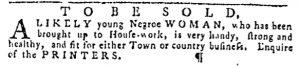 Oct 19 - Pennsylvania Gazette Slavery 3