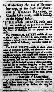 Oct 19 - Virginia Gazette Rind Slavery 1