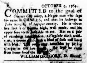 Oct 19 - Virginia Gazette Rind Supplement Slavery 4