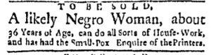 Oct 2 - Boston Evening-Post Slavery 1