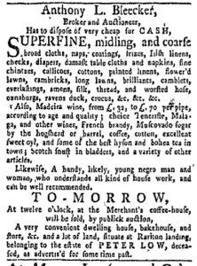 Oct 2 - New-York Gazette and Weekly Mercury Slavery 1