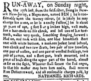 Oct 2 - New-York Gazette and Weekly Mercury Slavery 3