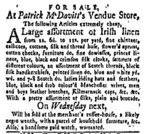 Oct 2 - New-York Gazette and Weekly Mercury Slavery 5