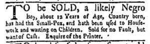 Oct 2 - New-York Gazette and Weekly Mercury Slavery 8