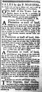 Oct 2 - South-Carolina and American General Gazette Slavery 7jpg