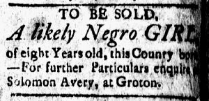 Oct 20 - New-London Gazette Slavery 2