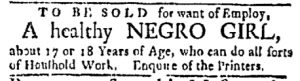 Oct 23 - Boston Evening-Post Slavery 1