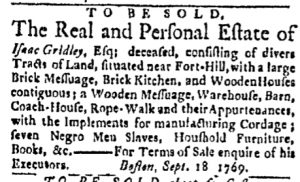 Oct 23 - Boston Evening-Post Slavery 2