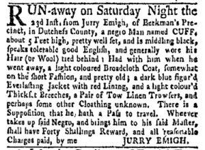 Oct 23 - New-York Gazette and Weekly Mercury Slavery 3