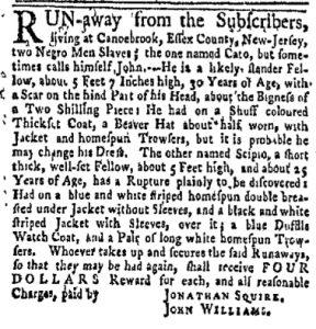Oct 23 - New-York Gazette and Weekly Mercury Slavery 5