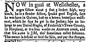 Oct 23 - New-York Gazette and Weekly Mercury Slavery 7