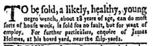 Oct 23 - New-York Gazette and Weekly Mercury Slavery 8