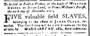 Oct 23 - South-Carolina and American General Gazette Slavery 1