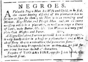 Oct 23 - South-Carolina and American General Gazette Slavery 4