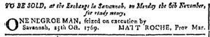 Oct 25 - Georgia Gazette Slavery 1