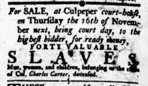 Oct 26 - Virginia Gazette Rind Slavery 1
